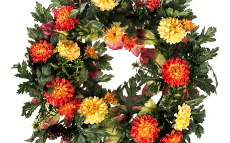 Umělý věnec Chryzantémy, pr. 32 cm
