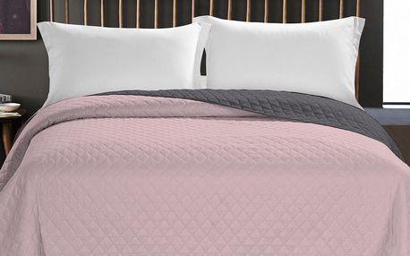 DecoKing Přehoz na postel Axel růžová, 220 x 240 cm