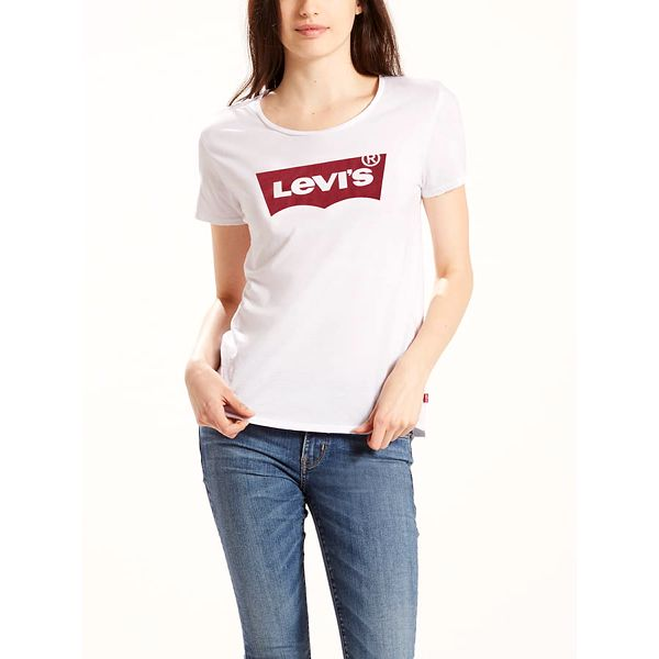 Tričko LEVI'S The Perfect Tee Large Batwing White Grap Modrá