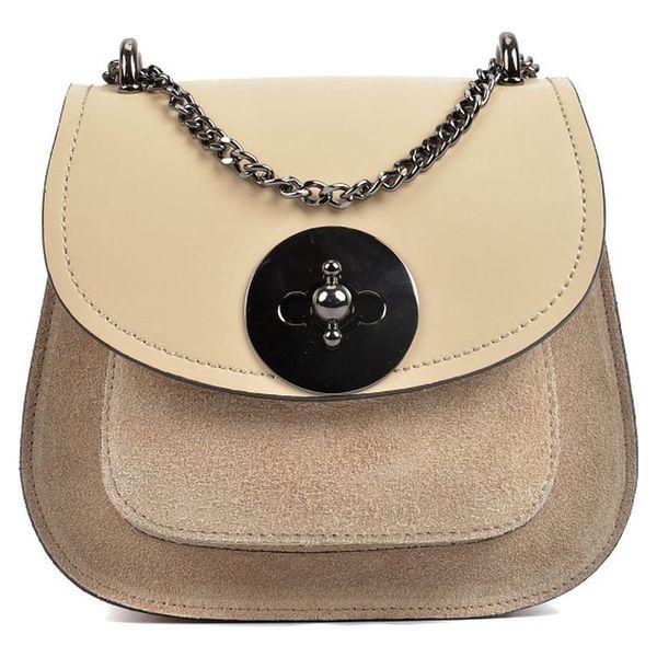 Béžová kožená kabelka Isabella Rhea Tara