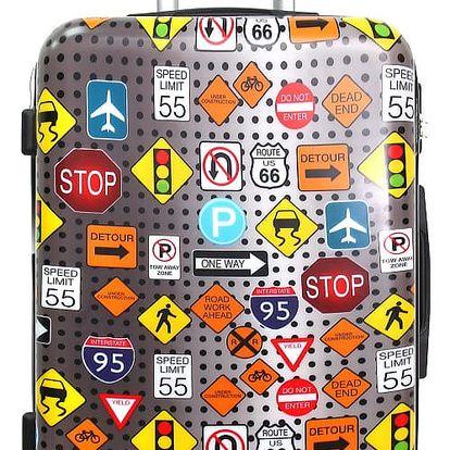 Barevný cestovní kufr na kolečkách American Travel, 46 l
