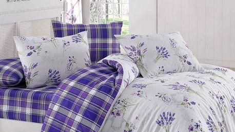 Night in Colours Bavlněné povlečení Lavente fialová, 220 x 200 cm, 2 ks 70 x 90 cm