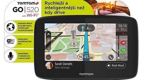 Navigační systém GPS Tomtom GO 520 World, Wi-Fi, LIFETIME mapy černá (1PN5.002.01)