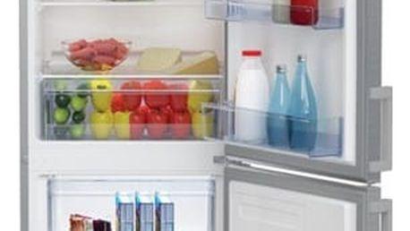 Kombinace chladničky s mrazničkou Beko CSA 270 M21X nerez
