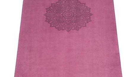 Růžová podložka na jógu Yoga Design Lab Commuter Mandala,1,3kg