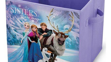 Fialový úložný box na hračky Domopak Frozen, délka32cm
