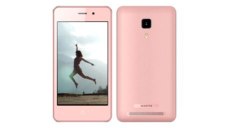 Mobilní telefon Aligator S4080 Dual SIM růžový + dárek (AS4080PK)