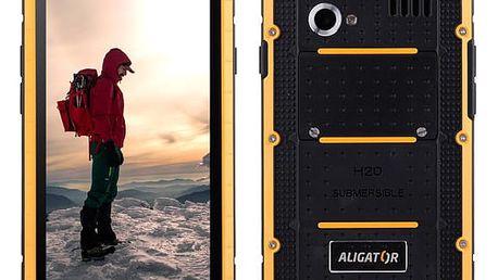 Mobilní telefon Aligator RX460 eXtremo 16 GB Dual SIM černý/žlutý + dárek (ARX460BY)