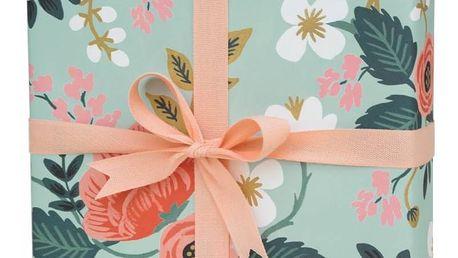 Rifle Paper Co. Balicí papír s květinami Birch, modrá barva, papír