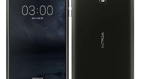 Mobilní telefon Nokia 3 Single SIM černý + dárek (11NE1B01A15)