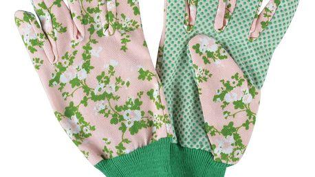 Růžové zahradní rukavice Esschert Design Plague
