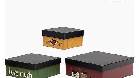 Ozdobná krabice Homanía 2649 3 pcs Hranatý