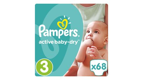 Pampers Active Baby-Dry pleny 3 Midi, 5-9 kg 68 ks