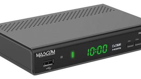 DVB-T2 přijímač Mascom MC750T2 HD černý (MC750T2HD)