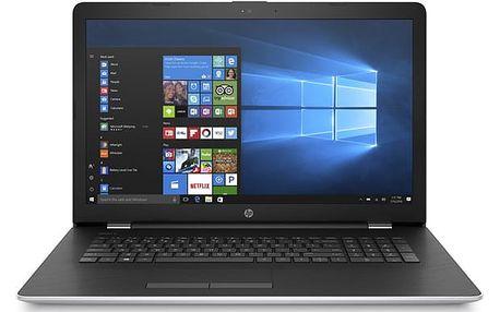 Notebook HP 17-ak037nc stříbrný + dárky (1UH56EA#BCM)
