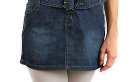 Dámské riflové šaty na knoflíky modrá