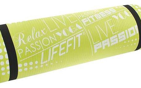 LIFEFIT Yoga Mat Exkluziv Plus 180x60x1,5cm zelená