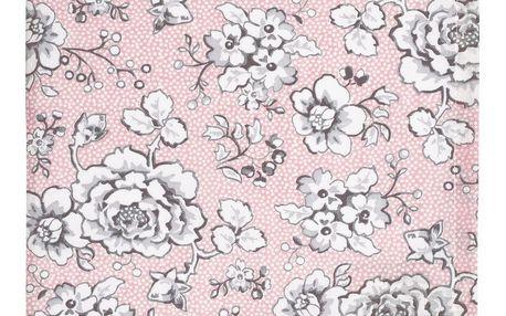 GREEN GATE Bavlněná utěrka Ella pale pink, růžová barva, textil