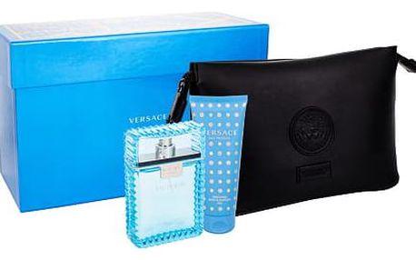 Versace Man Eau Fraiche EDT dárková sada M - EDT 100 ml + sprchový gel 100 ml + kosmetická taška