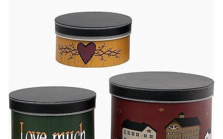 Ozdobná krabice Homania 2687 3 pcs Kulatá