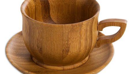 Šálek s podšálkem z bambusového dřeva Bambum Cortado