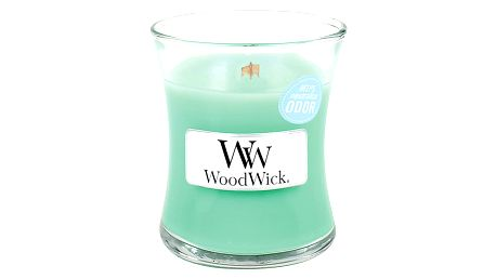 Svíčka s vůní osvěžujícího vzduchu po dešti WoodWick Jarní déšť, dobahoření20hodin