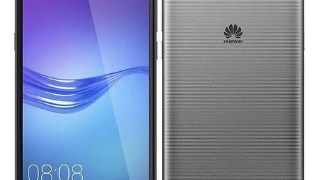 Mobilní telefon Huawei Y6 2017 Dual SIM šedý + dárek (SP-Y617DSTOM)