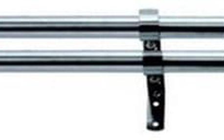 Gardinia Vitrážní tyčka Koule zdvojená ocelová, 120 - 230 cm