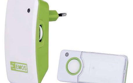 Zvonek bezdrátový EMOS P5740, do zásuvky, 100m bílý/zelený (3402040000)