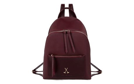 Tmavě červený batoh z eko kůže Beverly Hills Polo Club Fran