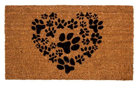 Trade Concept Kokosová rohožka Srdce z tlapek, 43 x 73 cm