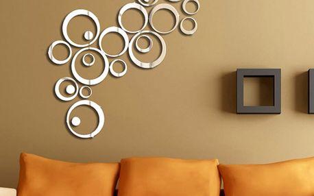 Zrcadlová adhezivní samolepka Ambiance Rings