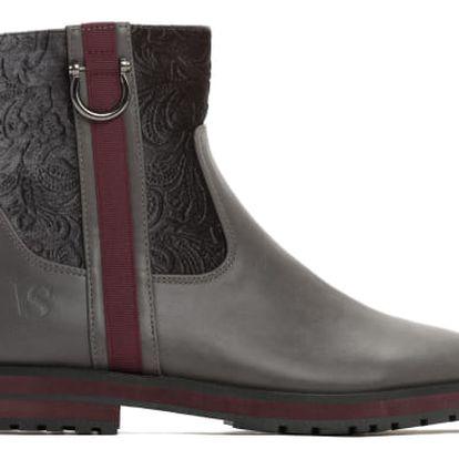 Dámské šedé kotníkové boty Morena 1270