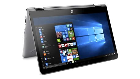 Notebook HP Pavilion 14 x360-ba005nc stříbrný + dárky (1VB16EA#BCM)