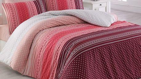 Bedtex povlečení bavlna Summer Fuchsiová, 140 x 220 cm, 70 x 90 cm