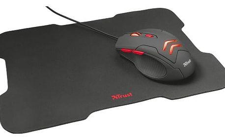 Myš Trust Ziva + podložka pod myš černá (/ optická / 6 tlačítek / 3000dpi) (21963)