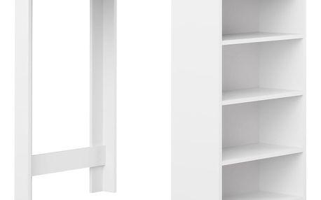 Bílý barový stůl s černou deskou Symbiosis Auguste