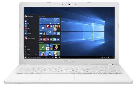 Notebook Asus F540SA-DM697T bílý + dárky (F540SA-DM697T)