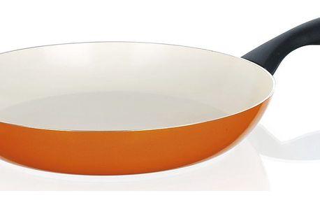BANQUET Pánev 28 cm oranžová se spirálovým dnem Natura Ceramia , 28 cm