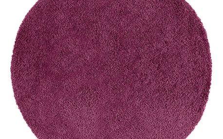 Tmavě fialový kulatý koberec Universal Norge, ⌀ 80 cm