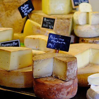 600 nebo 1000 g sýrů z kravského i kozího mléka