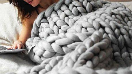Velká ručně pletená deka Mira