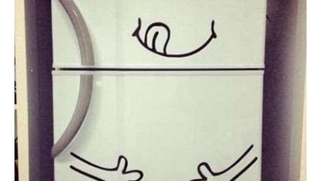 Veselá samolepka na ledničku