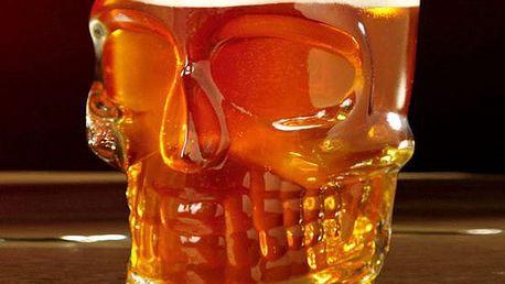 Sklenice na pivo Lebka