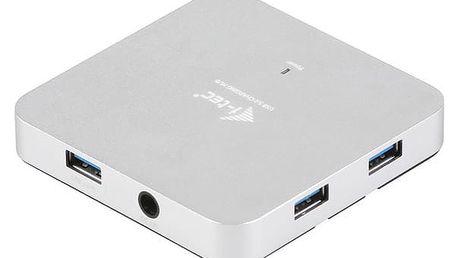 USB Hub i-tec USB 3.0 / 4x USB 3.0 stříbrný (U3HUBMETAL4)
