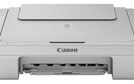 Tiskárna multifunkční Canon PIXMA MG3052 šedá (A4, 8str./min, 4str./min, 4800 x 600, duplex, WF, USB) + dárek (1346C046)
