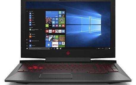 Notebook HP Omen 15-ce005nc černý + dárky (1VA35EA#BCM)