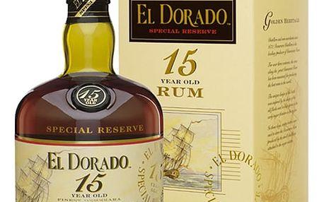 El Dorado Rum 15YO 0,7 43% Dárkové balení