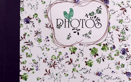 KARPEX Fotoalbum na růžky 30x30cm 100 stran Květinové pole – modrá