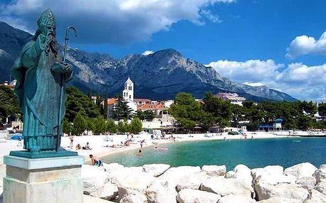 8denní pobyt u moře pro 1 osobu v letovisku Baška Voda v Chorvatsku